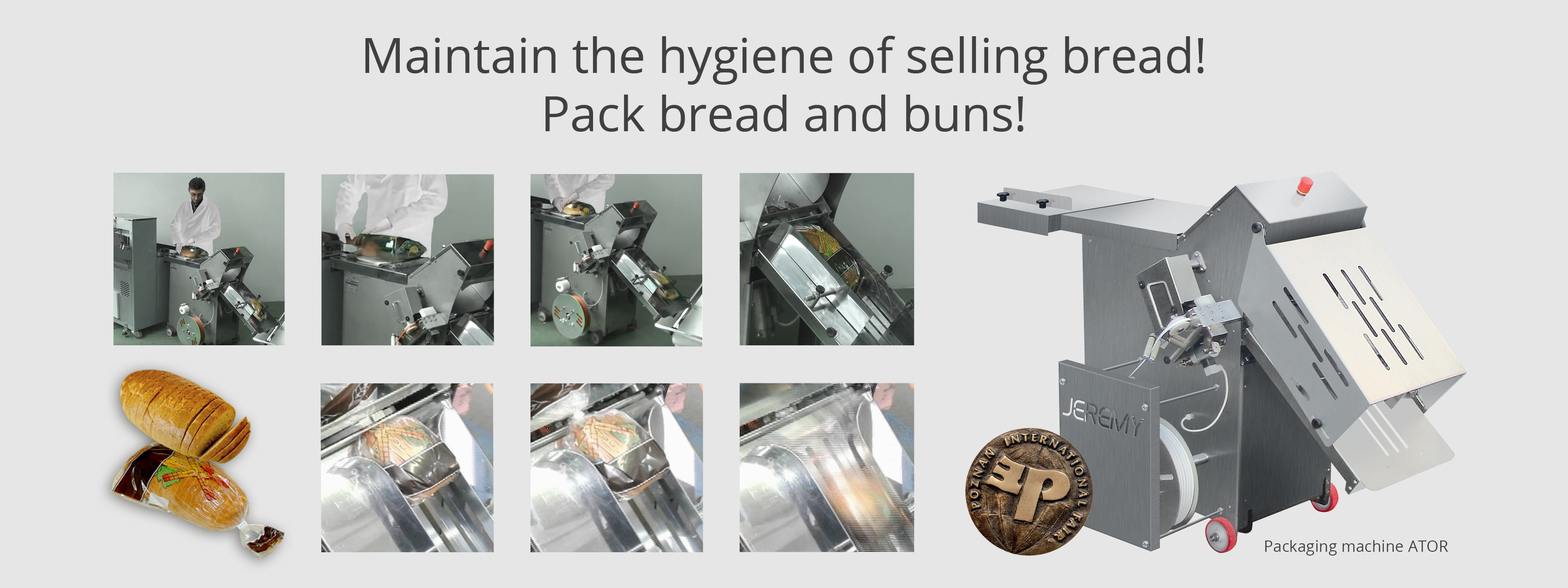 Maintain the hygiene of selling bread!
